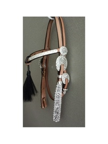 Dale Chavez Buckaroo Knotted Browband Light Oil Headstall 8015-955